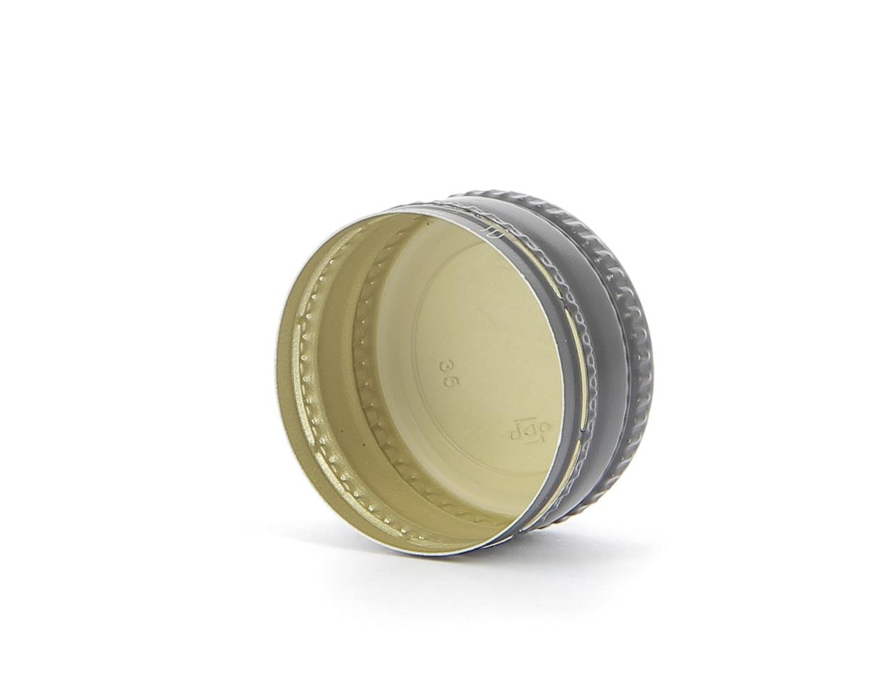 ROPP 28X15 Aluminium cap: on top of the airtightness closures